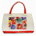 Colorful Succulents Classic Tote Bag (Red) Front