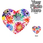 Colorful Succulents Playing Cards 54 (Heart)  Front - Spade8