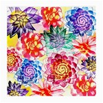 Colorful Succulents Medium Glasses Cloth (2-Side) Front