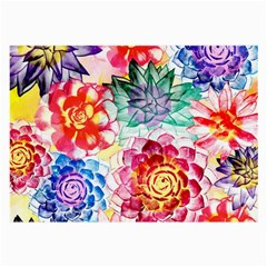 Colorful Succulents Large Glasses Cloth (2 Side) by DanaeStudio