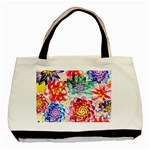 Colorful Succulents Basic Tote Bag (Two Sides) Back