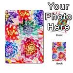 Colorful Succulents Multi-purpose Cards (Rectangle)  Back 17