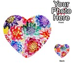Colorful Succulents Multi-purpose Cards (Heart)  Back 12