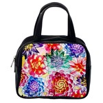 Colorful Succulents Classic Handbags (One Side) Front