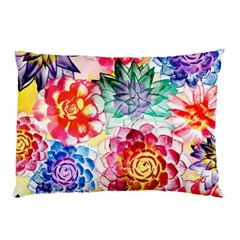 Colorful Succulents Pillow Case by DanaeStudio