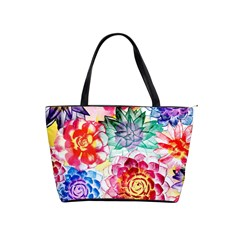 Colorful Succulents Shoulder Handbags by DanaeStudio