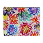 Colorful Succulents Cosmetic Bag (XL) Front