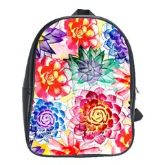Colorful Succulents School Bags(large)  by DanaeStudio
