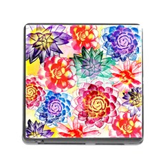 Colorful Succulents Memory Card Reader (square) by DanaeStudio