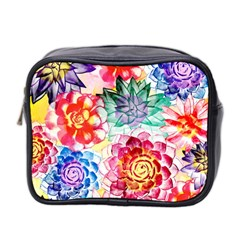 Colorful Succulents Mini Toiletries Bag 2 Side by DanaeStudio