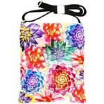 Colorful Succulents Shoulder Sling Bags