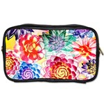Colorful Succulents Toiletries Bags Front