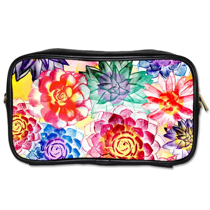 Colorful Succulents Toiletries Bags 2-Side