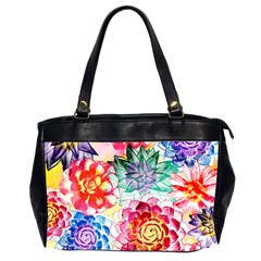 Colorful Succulents Office Handbags (2 Sides)  by DanaeStudio