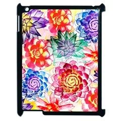 Colorful Succulents Apple Ipad 2 Case (black) by DanaeStudio