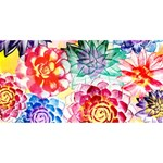 Colorful Succulents HUGS 3D Greeting Card (8x4) Back