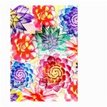 Colorful Succulents Large Garden Flag (Two Sides) Back