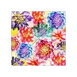Colorful Succulents Acrylic Tangram Puzzle (4  x 4 )
