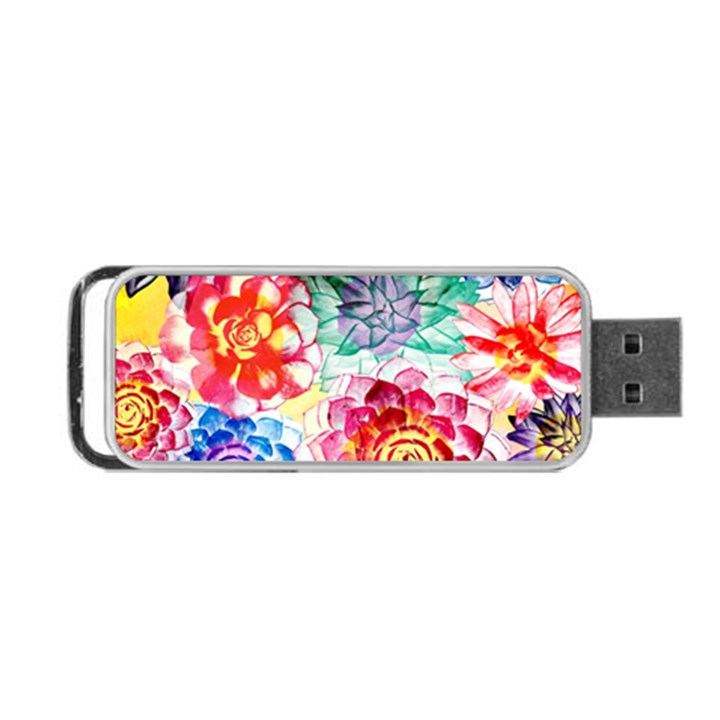 Colorful Succulents Portable USB Flash (Two Sides)