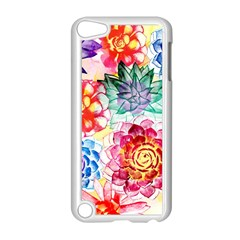 Colorful Succulents Apple Ipod Touch 5 Case (white) by DanaeStudio