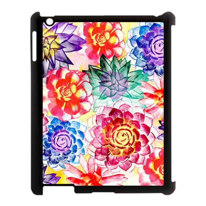 Colorful Succulents Apple iPad 3/4 Case (Black)