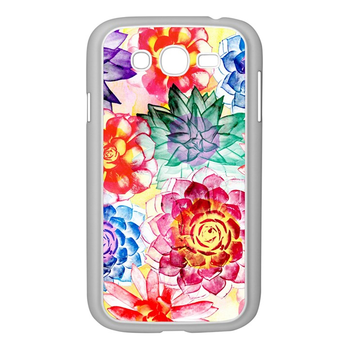 Colorful Succulents Samsung Galaxy Grand DUOS I9082 Case (White)
