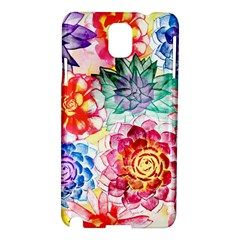 Colorful Succulents Samsung Galaxy Note 3 N9005 Hardshell Case by DanaeStudio