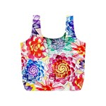 Colorful Succulents Full Print Recycle Bags (S)