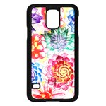Colorful Succulents Samsung Galaxy S5 Case (Black) Front