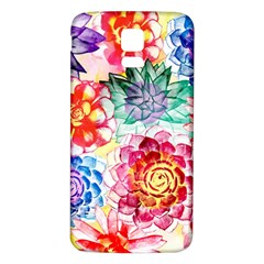 Colorful Succulents Samsung Galaxy S5 Back Case (white) by DanaeStudio