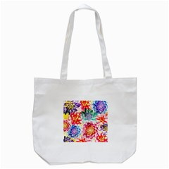 Colorful Succulents Tote Bag (white) by DanaeStudio