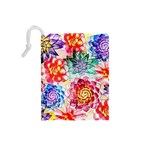 Colorful Succulents Drawstring Pouches (Small)  Back