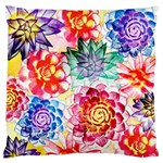 Colorful Succulents Large Flano Cushion Case (Two Sides) Front