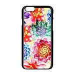Colorful Succulents Apple iPhone 6/6S Black Enamel Case Front