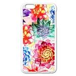 Colorful Succulents Apple iPhone 6 Plus/6S Plus Enamel White Case