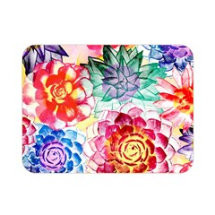 Colorful Succulents Double Sided Flano Blanket (mini)  by DanaeStudio