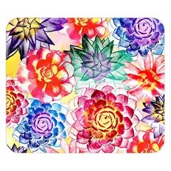 Colorful Succulents Double Sided Flano Blanket (small)  by DanaeStudio