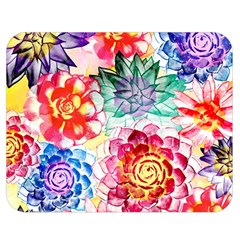Colorful Succulents Double Sided Flano Blanket (medium)  by DanaeStudio