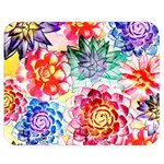 Colorful Succulents Double Sided Flano Blanket (Medium)  60 x50 Blanket Back