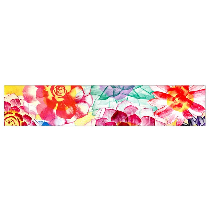 Colorful Succulents Flano Scarf (Small)