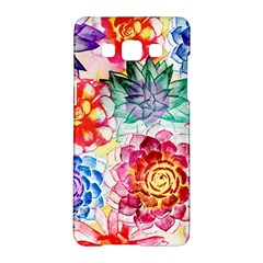 Colorful Succulents Samsung Galaxy A5 Hardshell Case  by DanaeStudio