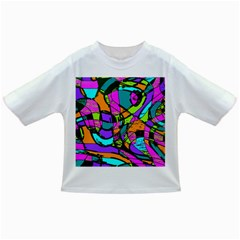 Abstract Sketch Art Squiggly Loops Multicolored Infant/toddler T Shirts