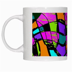 Abstract Sketch Art Squiggly Loops Multicolored White Mugs by EDDArt