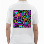 Abstract Sketch Art Squiggly Loops Multicolored Golf Shirts Back