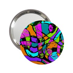 Abstract Sketch Art Squiggly Loops Multicolored 2 25  Handbag Mirrors