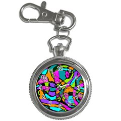 Abstract Sketch Art Squiggly Loops Multicolored Key Chain Watches by EDDArt