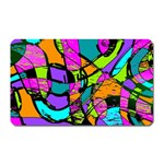 Abstract Sketch Art Squiggly Loops Multicolored Magnet (Rectangular) Front