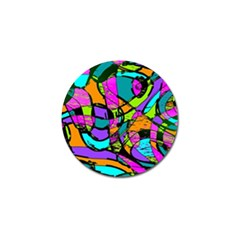 Abstract Sketch Art Squiggly Loops Multicolored Golf Ball Marker