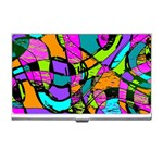 Abstract Sketch Art Squiggly Loops Multicolored Business Card Holders Front