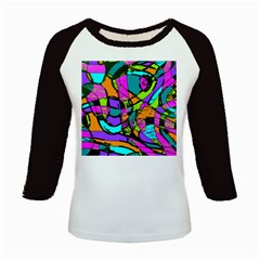 Abstract Sketch Art Squiggly Loops Multicolored Kids Baseball Jerseys